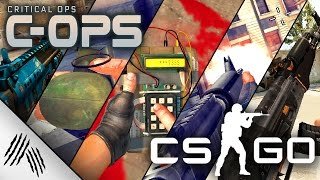 Counter Strike Global Offensive vs. Critical Ops | WEAPON ANIMATION COMPARISON