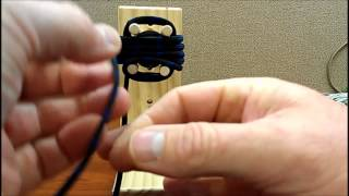 How to easily make a Monkey's fist keychain laynard using a jig  - Part 1