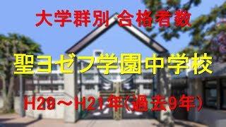 聖ヨゼフ学園中学校 大学合格者数 H29~H21年【グラフでわかる】 thumbnail