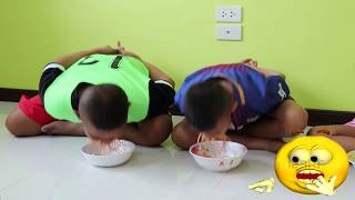 แข่งกินทาโร่ กินจุ แบบไม่ใช้มือ l น้องใยไหม kids snook