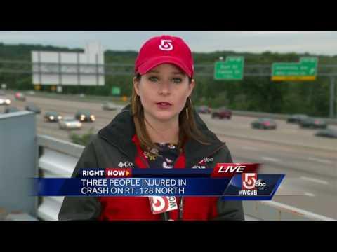Three people injured in crash on Rt. 128