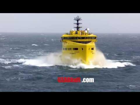 Nordsee Helden: Versorgungsschiffe  in schwerer See