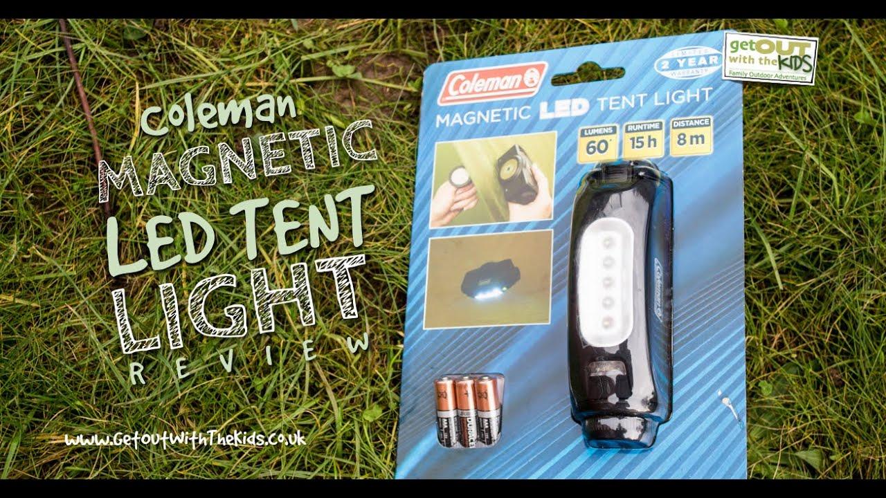 Coleman Magentic Tent Light Review