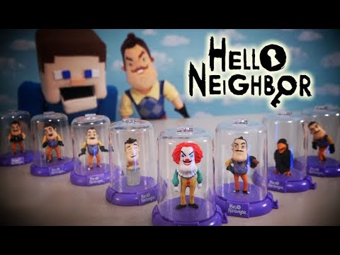 Hello Neighbor DOMEZ Blind Bag Case Toys Unboxing Plush Clown Funko Jumpscare Review Game Trailer
