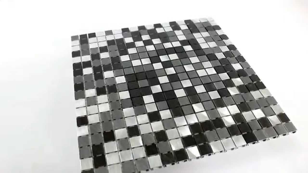 Aluminium Mosaik Fliesen Schwarz Silber   YouTube