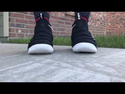 44bbea10c4c Lebron Zoom Soldier 11 Bred On Foot Zoom Soldier XI Radio Silence On Foot -  YouTube