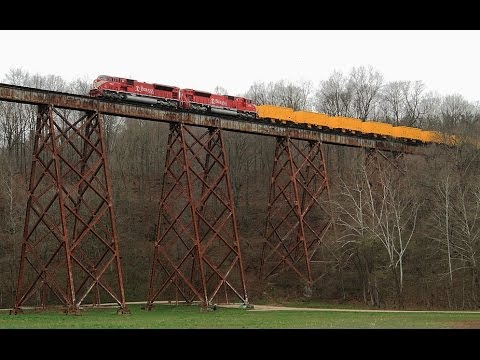 Indiana Railroad HWSA Tulip Trestle 4/14/2014