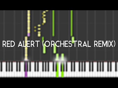 [Metal Gear OST] -!- Red Alert (Orchestral Remix) + Synthesia (Piano Tuto)