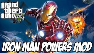 GTA V - IRON MAN MOD POWERS GAMEPLAY