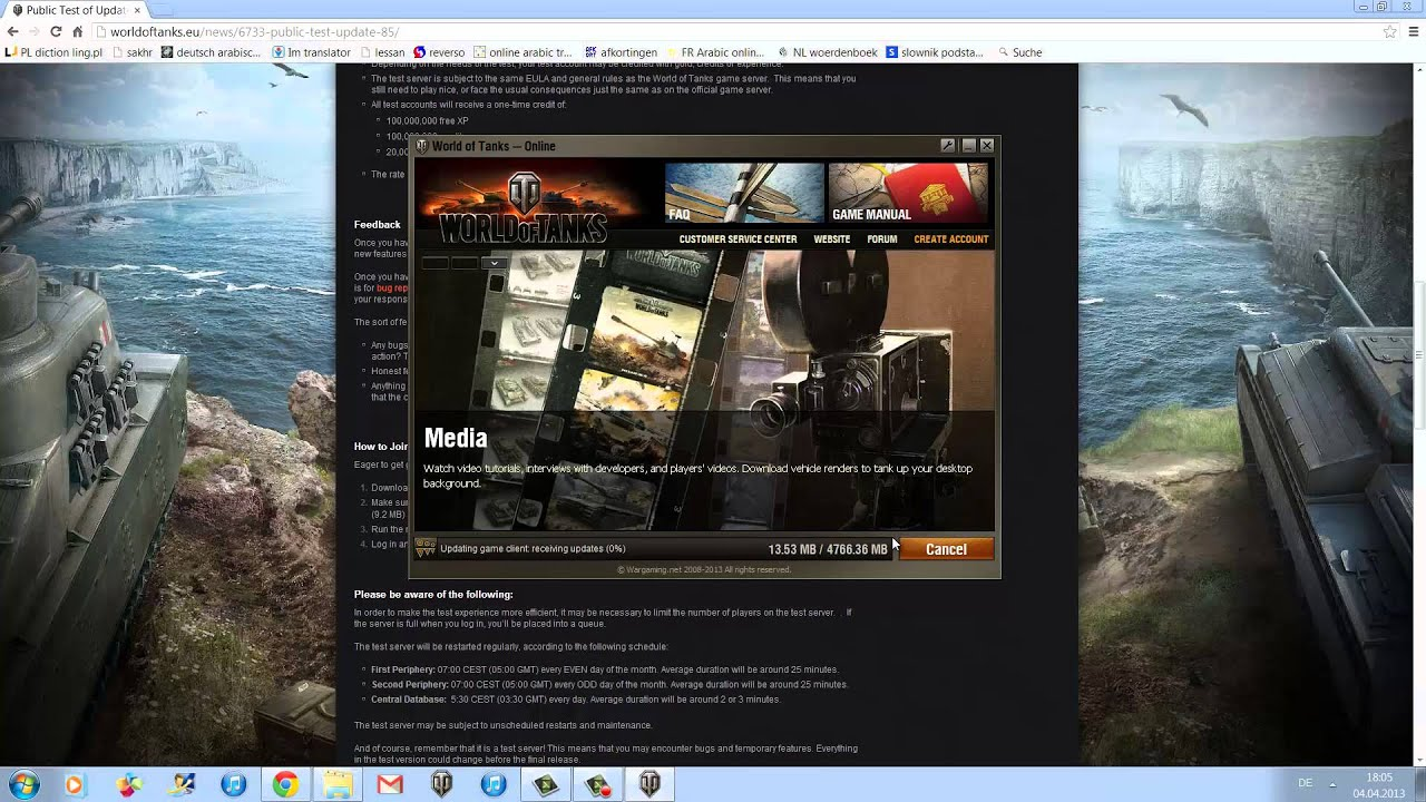 Customer account create/downloader - World Of Tanks Tutorial How To Download Get On To A Testserver Youtube