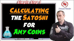 How to calculate the Satoshi value of any coins