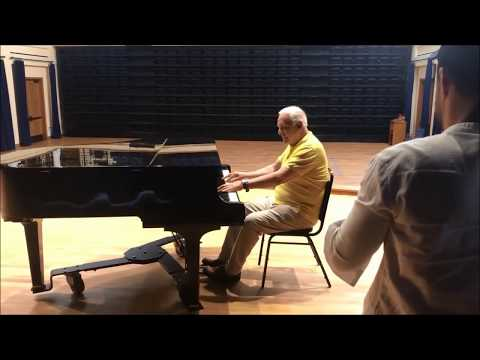 Sir Anthony Hopkins plays the piano at Thomas Aquinas College, California