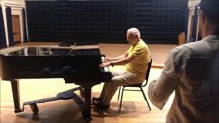 Sir Anthony Hopkins plays the piano at Thomas Aquinas College, California