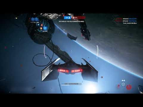 Star Wars Battlefront 2 Starfighter assault (no comentary)  