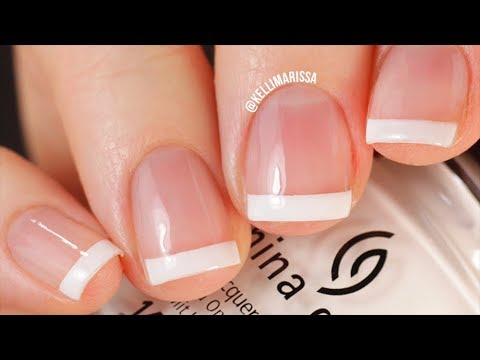 The EASIEST French Manicure Nail Tutorial Ever (No Special Tools Needed!) || KELLI MARISSA