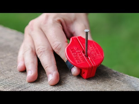 Magnetic Nail Holder Protects Your Fingers