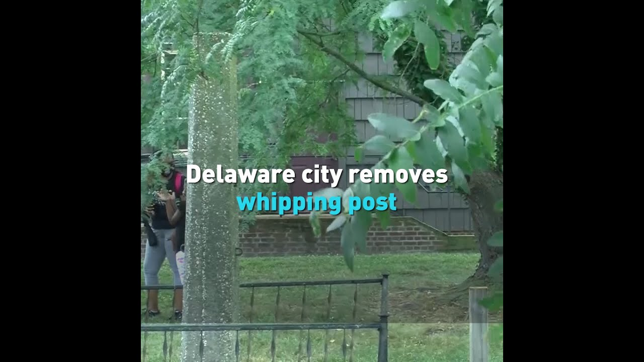 Delaware city removes whipping post
