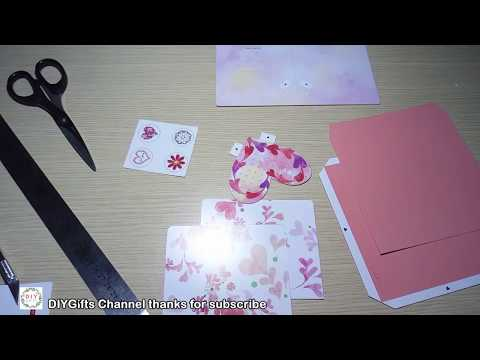 Diy 3d Christmas Love Pop Up Card Very Easy How To Make