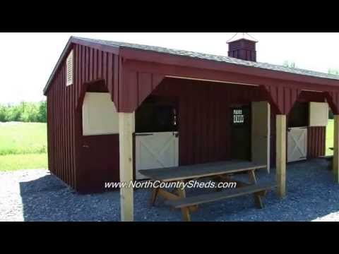 EQUINE  10 X 32 SHED ROW HORSE SHELTER  RUN IN HORSE BARNS  OTTAWA ONTARIO  YouTube