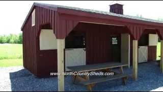 Equine | 10' X 32' Shed Row Horse Shelter | Run In Horse Barns | Ottawa, Ontario