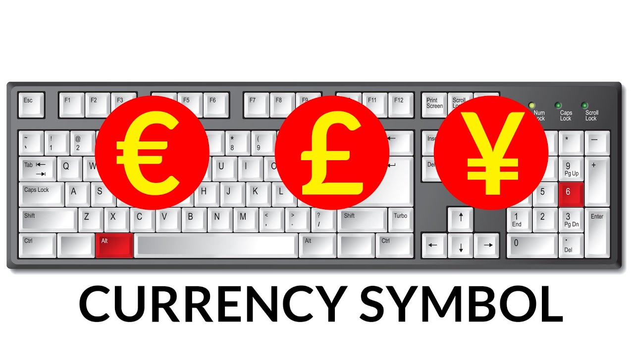 Keyboard Shortcut For Currency Symbol Youtube