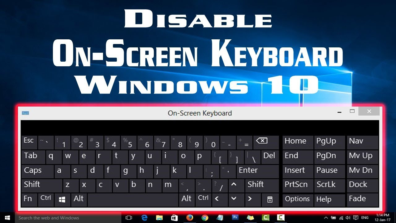 disable notebook keyboard windows 8