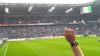 Vor dem Spiel Borussia Mönchengladbach gegen den FC Schalke 04