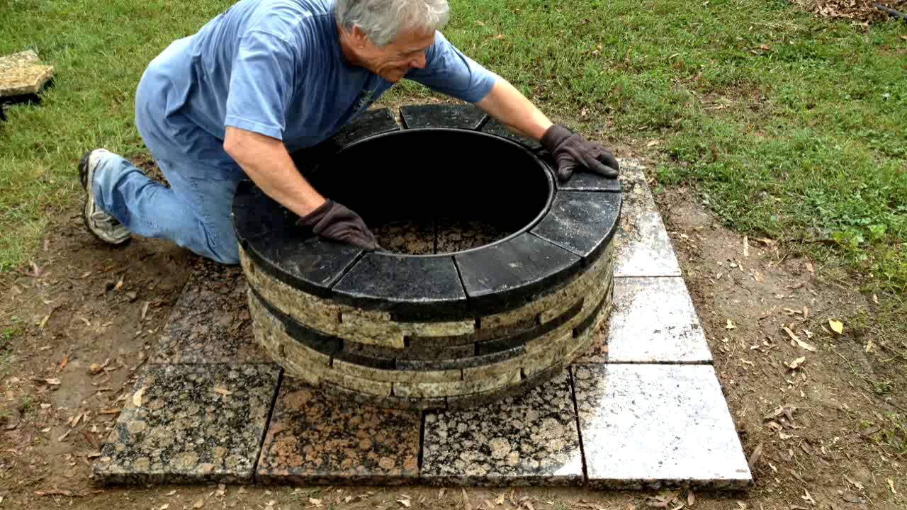 Recycled granite fire pit install youtube - How to build an alley out of reused bricks ...