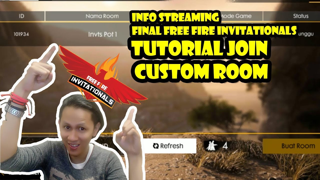 Tutorial Join Custom Room Free Fire Info Streaming Free Fire Invitationals