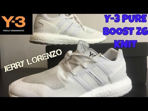 a6fdf6494debd Adidas Y-3 PURE BOOST ZG Knit  Triple White  Review (Steal or not ...