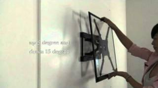 Loctek Super Low Profile Full Motion LED TV Mount Bracket PSW009AT
