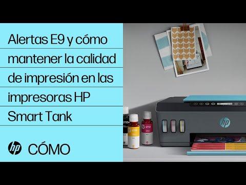 Alertas E9 y cómo mantener la calidad de impresión en las impresoras HP Smart Tank