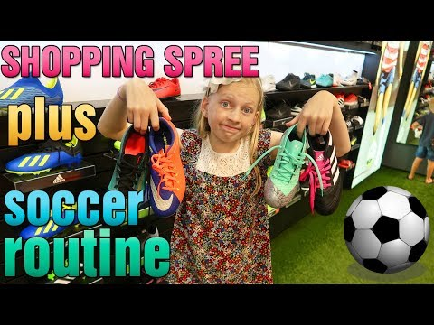 First Day of Soccer! Shopping for New Gear & First Practice Routine
