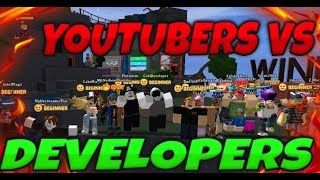 Youtubers Vs Developers! | Roblox Obby Squads