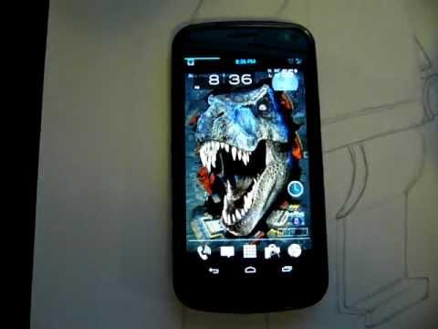 Animgif Live Wallpaper Stereoscopic Tyrannosaurus Rex On Galaxy