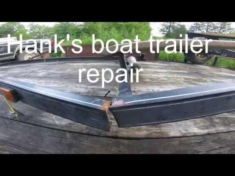 Welding, Boat trailer Repair