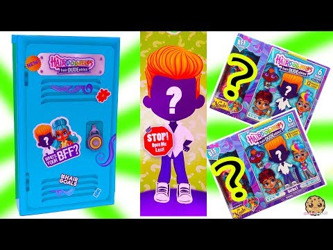 Giant School Locker of BFF HairDUDEables Hairdorables Surprise Boys Fashion Doll