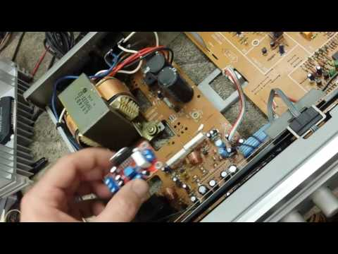 Replacing Stk power amplifier in Yamaha R-300 using Yuan-Jing TDA7293 modules