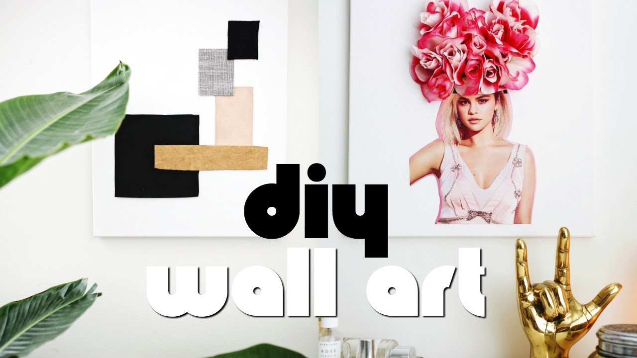 3 Easy Diy Wall Art Room Decor Ideas For Teenagers 2018 Nastazsa Youtube