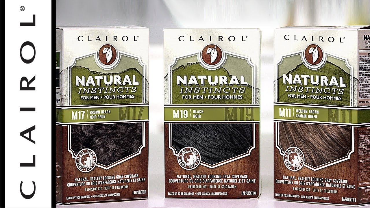 Semi Permanent Natural Instincts Hair Color For Men Clairol Youtube