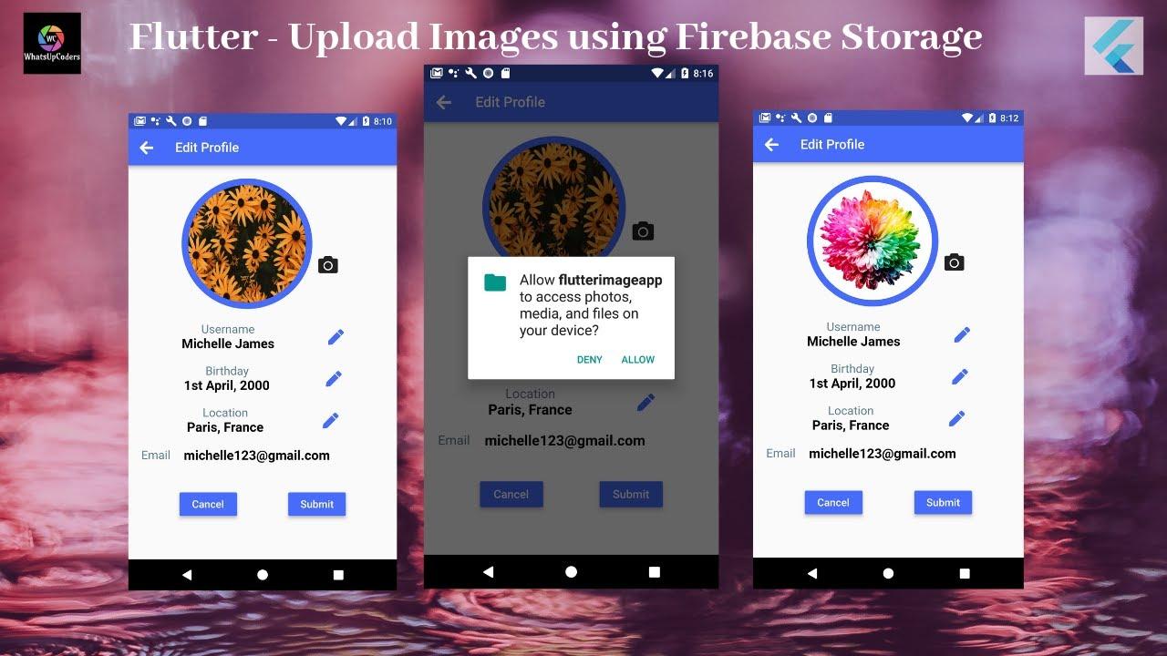 Flutter Tutorial - Upload Images using Firebase Storage.