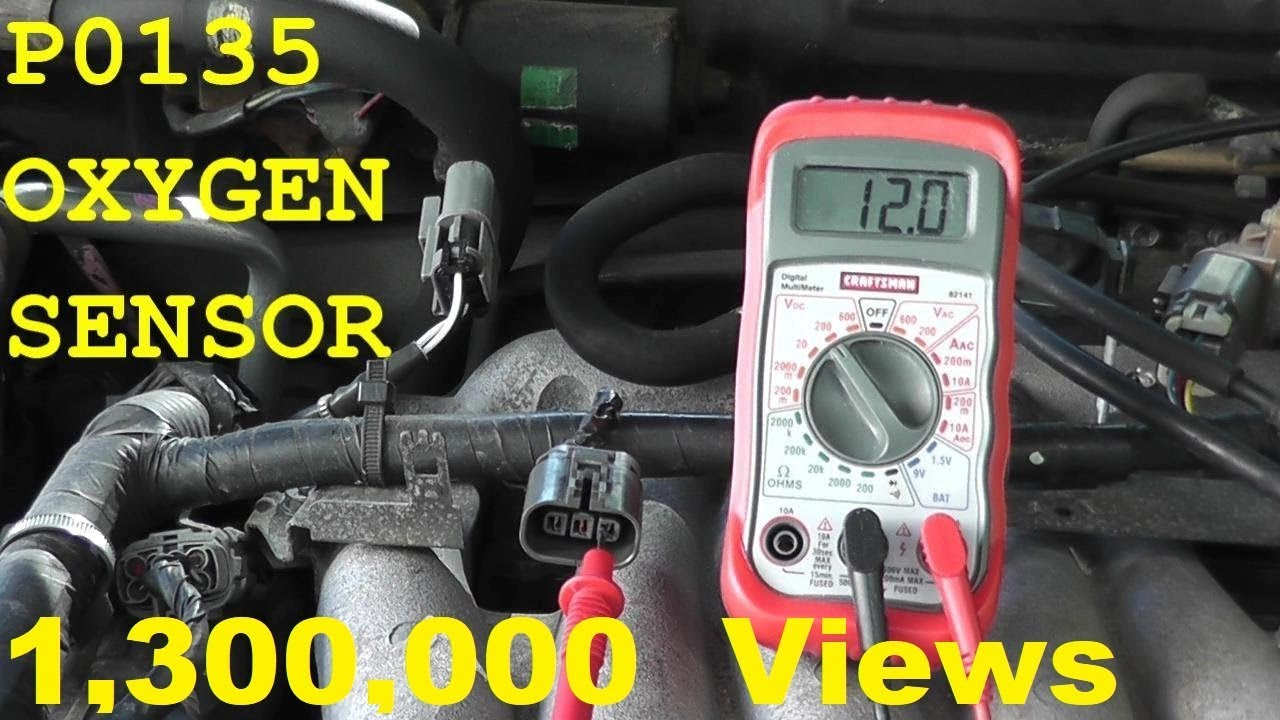 2005 Chevy Blazer Wiring Diagram 6 Pin Trailer Plug Australia How To Test And Replace An Oxygen Sensor P0135 - Youtube