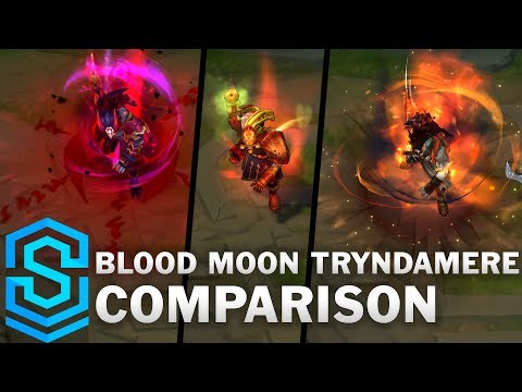 Blood Moon Tryndamere VS All Previous Skins | Skin Comparison