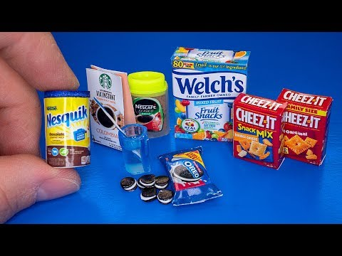 DIY How to make miniature food pack for Barbie Dollhouse Crafts and hacks