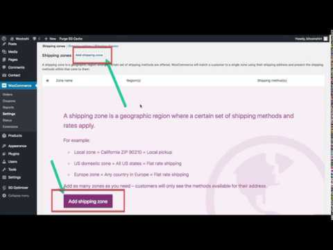 Step 4.3 - Setting Up Shipping In WooCommerce Shipping Zones, Shipping Methods And Rates