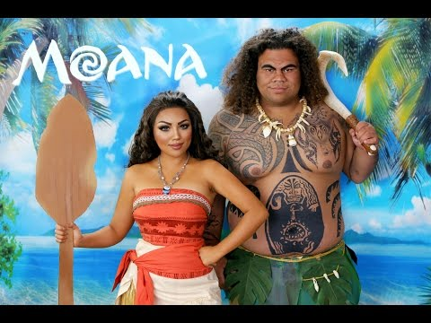 Disney's MOANA Makeup Tutorial !!!