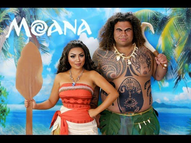 DISNEYS MOANA & MAUI!!!
