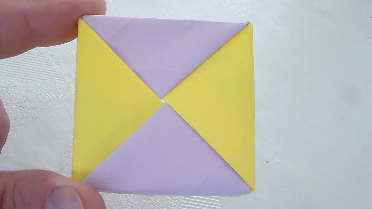 How To Make Origami Cube Video