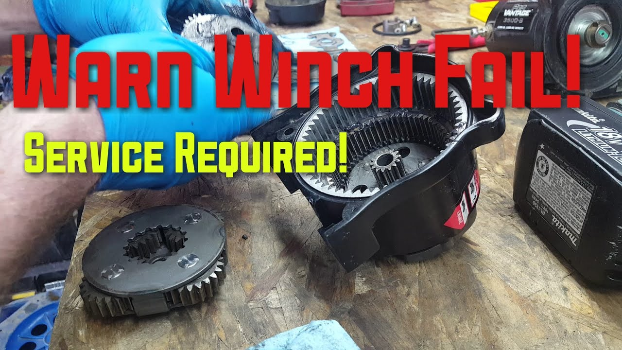 Warn Winch Fail Service Required! on