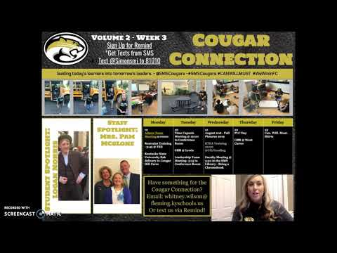 Cougar Connection Week 3